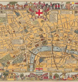 "Italy Cavallini Print, London Map, 20"" x 28"""