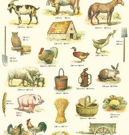"Italy Cavallini Print, La Ferme, The Farm, 20"" x 28"""