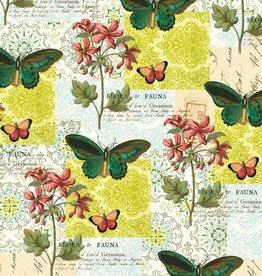 "Italy Cavallini Print, Flora & Fauna Butterfly, 20"" x 28"""