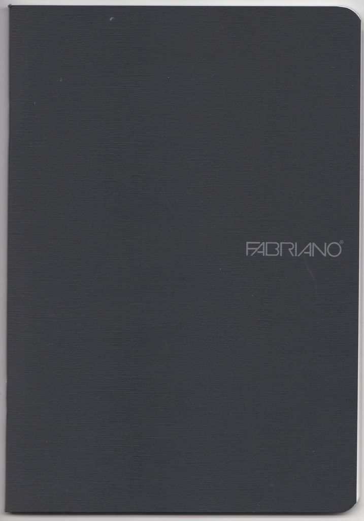 "Italy EcoQua Blank Notebook, Black, 5.75"" x 8.25"" 40 Sheets"