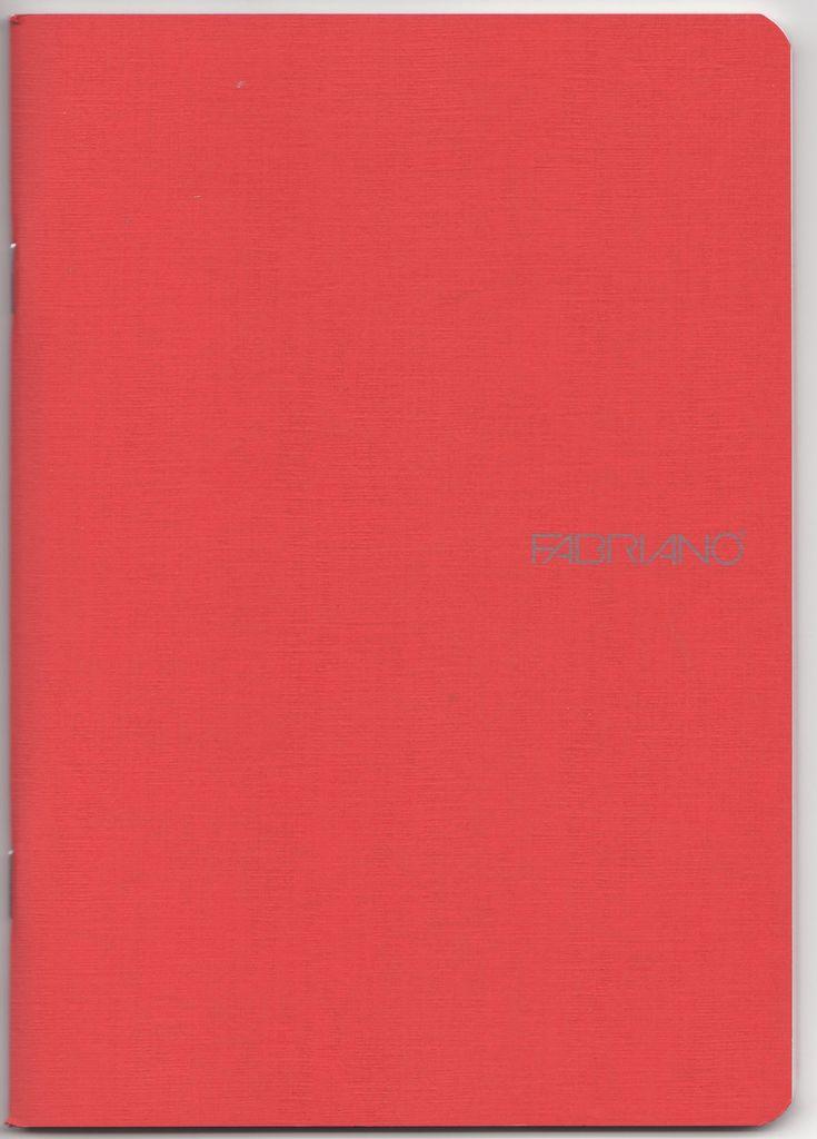 "Italy EcoQua Blank Notebook, Raspberry, 5.75"" x 8.25"" 40 Sheets"