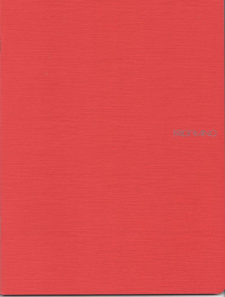 "Italy EcoQua Blank Notebook, Raspberry, 8.25"" x 11.5"", 40 Sheets"
