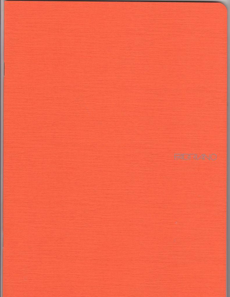 "Italy EcoQua Blank Notebook, Orange, 8.25"" x 11.5"", 40 Sheets"
