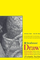 "Domestic Strathmore Drawing Pad, 300 Series, 70#, Drawing Pad, 18"" x 24"", 25 Sheets"