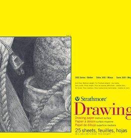 "Domestic Strathmore Drawing Pad, 300 Series, 70#, Drawing Pad, 18"" x 24"", 25 Sheets"