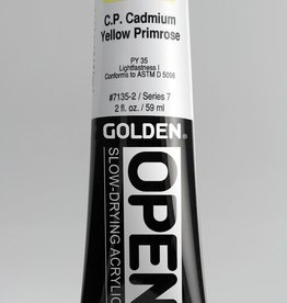 Golden OPEN, Acrylic Paint, C.P. Cadmium Yellow Primrose, Series 7, Tube (2fl.oz.)