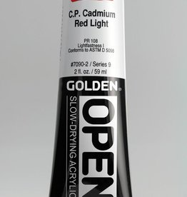 Golden OPEN, Acrylic Paint, C.P, Cadmium Red Light, Series 9, Tube (2fl.oz.)