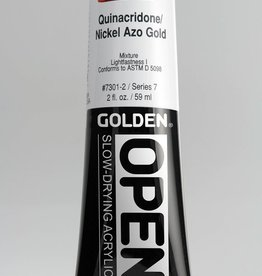 Golden OPEN, Acrylic Paint, Quinacridone Nickel Azo Gold, Series 7, Tube (2fl.oz.)