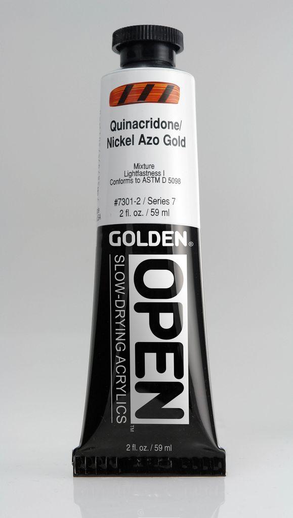 Golden OPEN, Acrylic Paint, Quinacridone Nickel Azo Gold, Series 7, Tube (2fl.oz.)