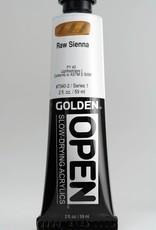 Golden OPEN, Acrylic Paint, Raw Sienna, Series 1, Tube (2fl.oz.)