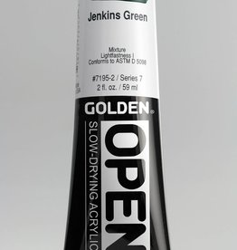 Golden OPEN, Acrylic Paint, Jenkins Green, Series 7, Tube (2fl.oz.)