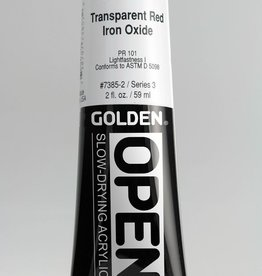 Golden OPEN, Acrylic Paint, Transparent Red Iron Oxide, Series 3, Tube (2fl.oz.)