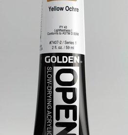 Golden OPEN, Acrylic Paint, Yellow Ochre, Series 1, Tube (2fl.oz.)