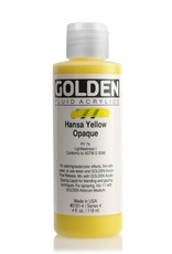 Golden Fluid Acrylic Paint, Hansa Yellow Opaque, Series 4, 4fl.oz, Bottle