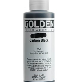 Golden Fluid Acrylic Paint, Carbon Black, Series 1, 4fl.oz, Bottle