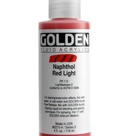 Golden Fluid Acrylic Paint, Napthol Red Light, Series 5, 4fl.oz, Bottle