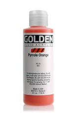 Golden Fluid Acrylic Paint, Pyrrole Orange, Series 8, 4fl.oz, Bottle