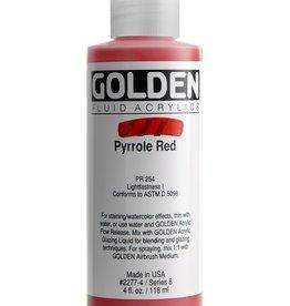 Golden Fluid Acrylic Paint, Pyrrole Red, Series 8, 4fl.oz, Bottle