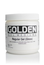 Golden, Regular Gel Medium, Gloss, 8oz Jar
