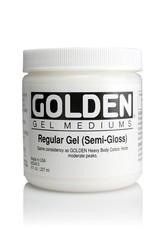 Golden, Regular Gel Medium, Semi-Gloss, 8oz Jar