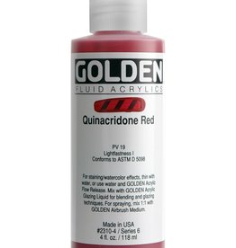 Golden Fluid Acrylic Paint, Quinacridone Red Light, Series 7, 4fl.oz, Bottle