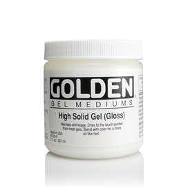 Golden, High Solid Gel Medium, Gloss, 8 oz Jar