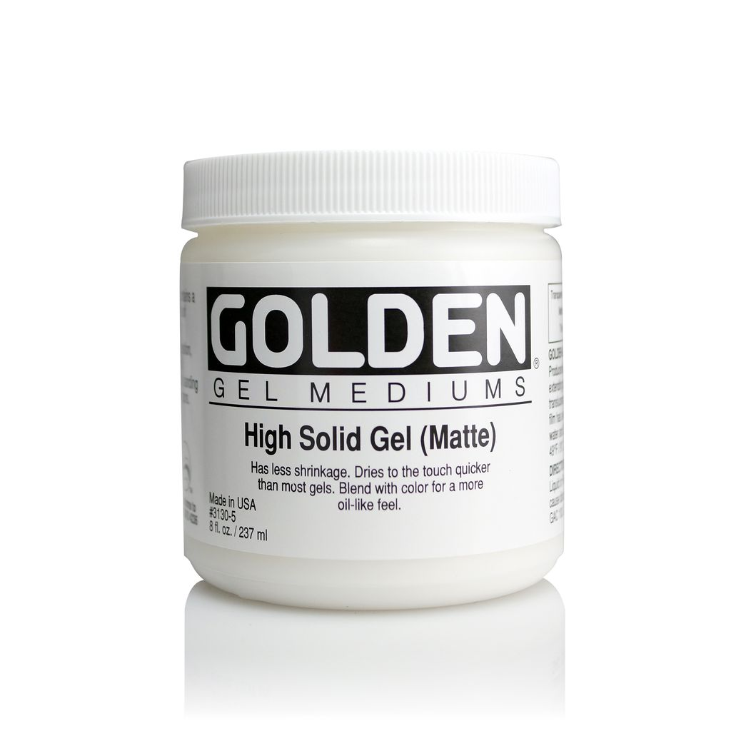 Golden, High Solid Gel Medium, Matte, 8 oz Jar
