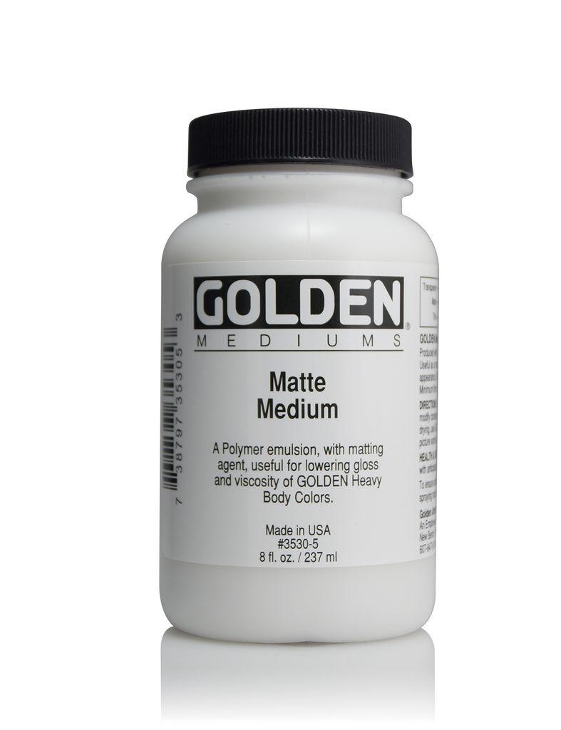 Golden, Matte Medium, 8 Fl Oz.