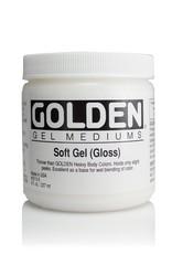 Domestic Golden, Soft Gel Medium, Gloss,  8oz Jar