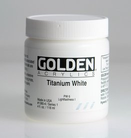 Golden, Heavy Body Acrylic Paint, Titanium White, Series 1,  4fl.oz. Jar