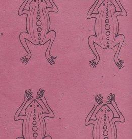 "Nepal Lokta Frogs on Rose, 20"" x 30"""