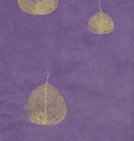"Nepal Lokta Bodhi Leaves Purple, 20"" x 30"""