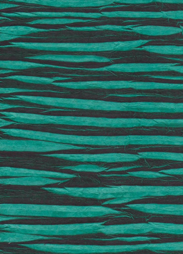 """Nepal Electric Zigzag, Teal Green, 20"""" x 30"""""""