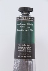 France Sennelier, Fine Artists' Oil Paint, Cinnabar Green Deep, 829, 40ml Tube, Series 4