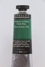 France Sennelier, Fine Artists' Oil Paint, Cadmium Green Deep, 825, 40ml Tube, Series 6