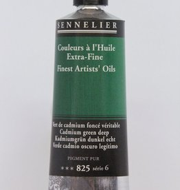 France Sennelier, Fine Artists' Oil Paint, Cadmium Green Deep, 825, 40ml Tube, Series 6