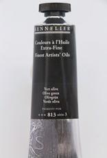 France Sennelier, Fine Artists' Oil Paint, Olive Green, 813, 40ml Tube, Series 3