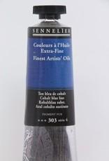 France Sennelier, Fine Artists' Oil Paint, Cobalt Blue Hue, 303, 40ml Tube, Series 4