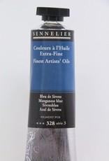 France Sennelier, Fine Artists' Oil Paint, Manganese Blue, 328, 40ml Tube, Series 3
