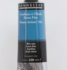 France Sennelier, Fine Artists' Oil Paint, Azure Blue, 320, 40ml Tube, Series 2