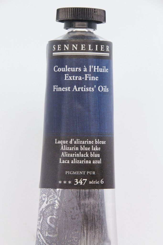 France Sennelier, Fine Artists' Oil Paint, Alizarin Blue Lake, 347, 40ml Tube, Series 6