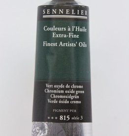 France Sennelier, Fine Artists' Oil Paint, Chromium Oxide Green, 815, 40ml Tube, Series 3