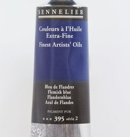 France Sennelier, Fine Artists' Oil Paint, Flemish Blue, 395, 40ml Tube, Series 2