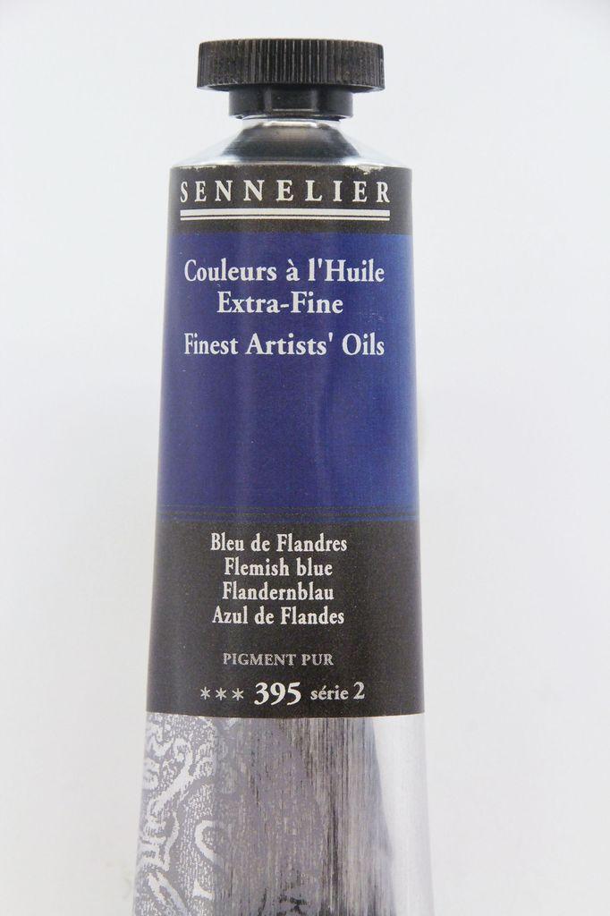 France Sennelier, Fine Artists' Oil Paint, Flemish Blue, 395, 40ml Tube, Series 2