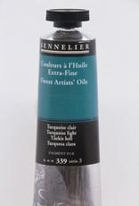 France Sennelier, Fine Artists' Oil Paint, Turquoise Light, 339, 40ml Tube, Series 3