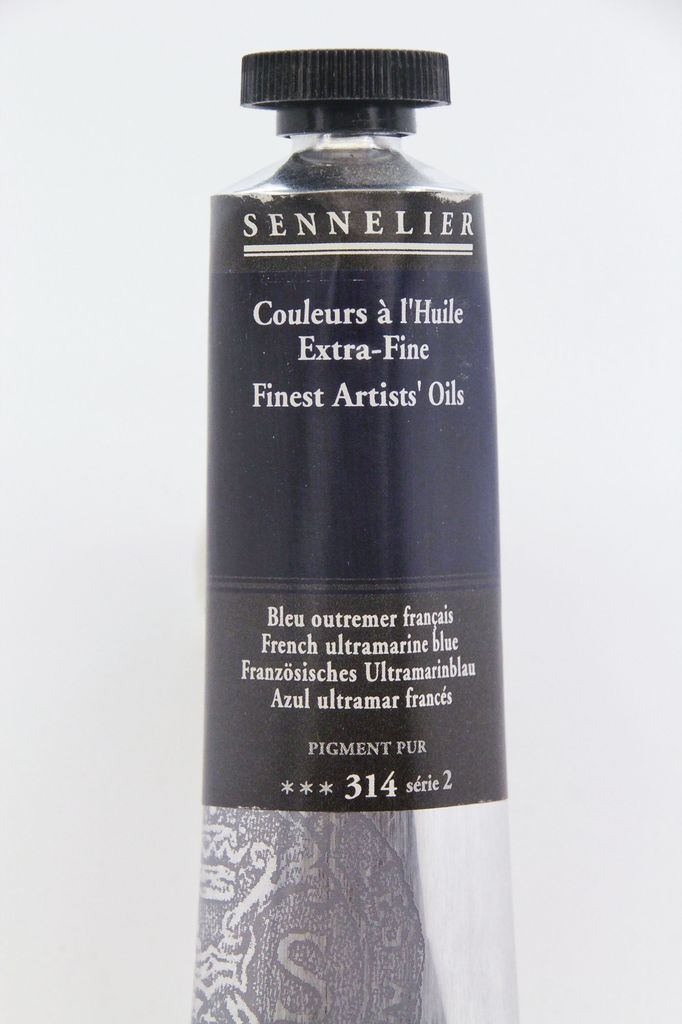 France Sennelier, Fine Artists' Oil Paint, French Ultramarine Blue, 314, 40ml Tube, Series 2
