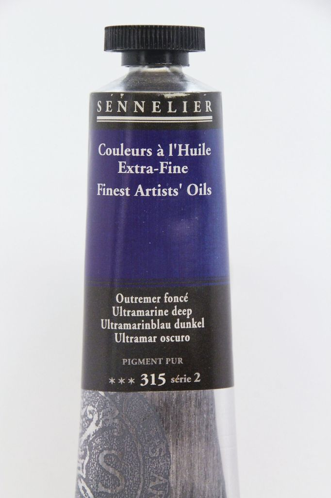 France Sennelier, Fine Artists' Oil Paint, Ultramarine Deep, 315, 40ml Tube, Series 2