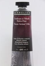 France Sennelier, Fine Artists' Oil Paint, Alizarin Crimson, 695, 40ml Tube, Series 3