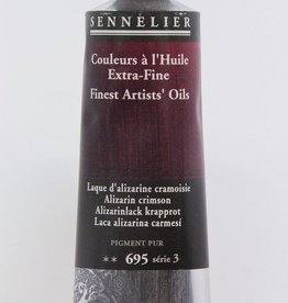 France Sennelier, Fine Artists' Oil Paint, Alizarin Crimson, 695, 40ml Tube, Series 3