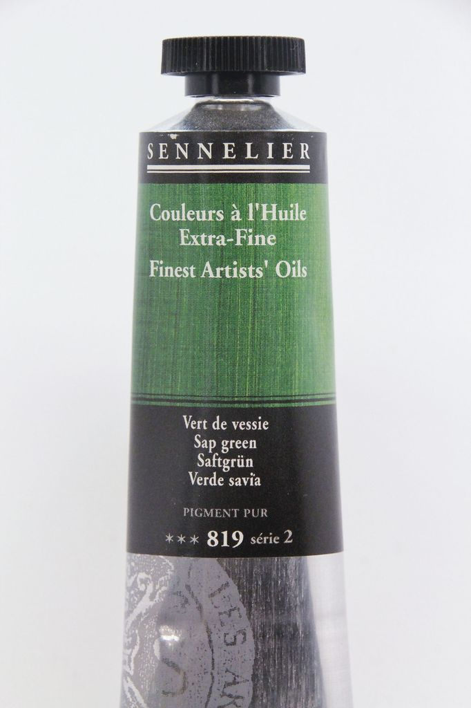 France Sennelier, Fine Artists' Oil Paint, Sap Green, 819, 40ml Tube, Series 2